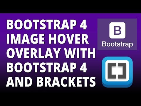 Bootstrap 4 - Image Hover Overlay with Bootstrap 4 and Brackets Text Editor