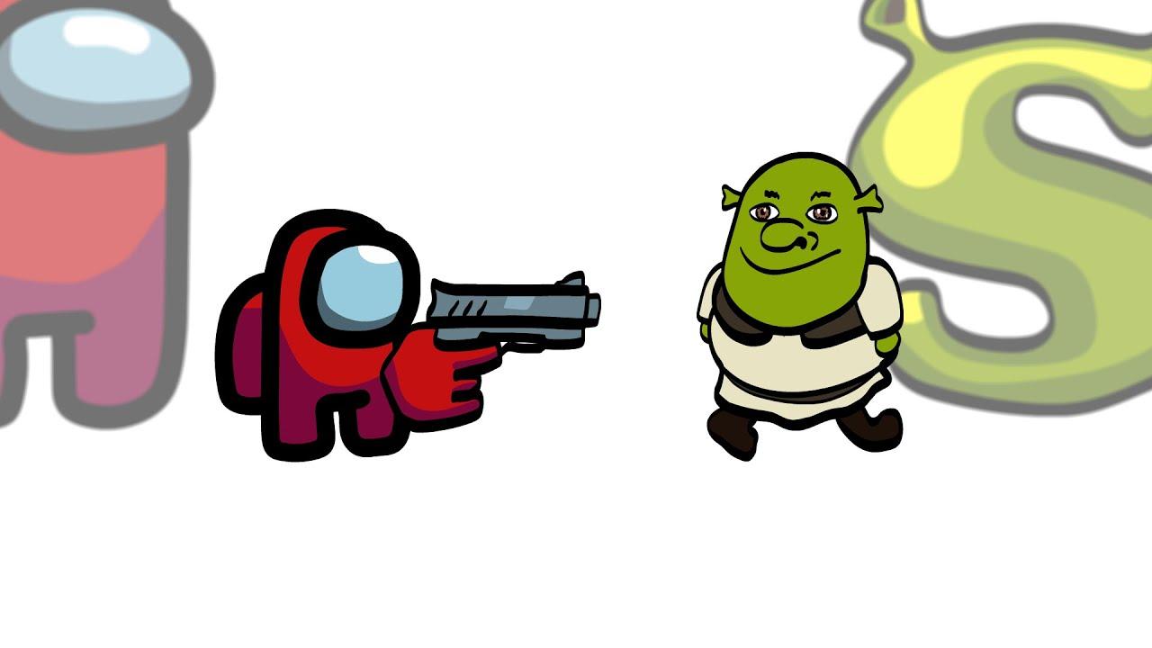 Mini Crewmate Kills 6 Shrek Characters | Among Us