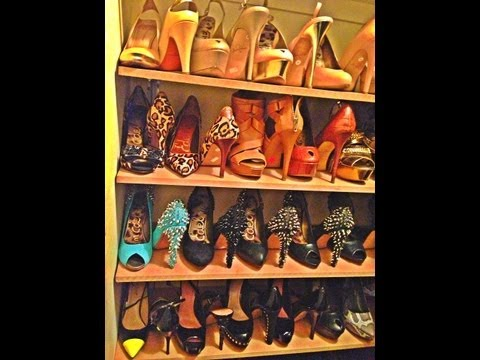 Do it yourself Shoe Wall... Closet or Bedroom