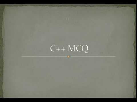 MCQ C++ Questions Answers