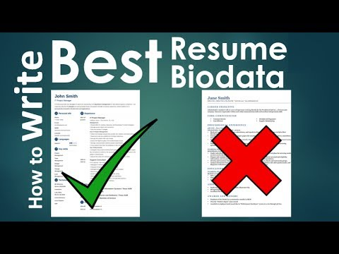 How to write a powerful Killer Resume / Biodata / CV