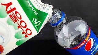 콜라 VS 우유..!!  신기한동영상과 생활꿀팁의 재미있는과학 하우투[HOWTO]