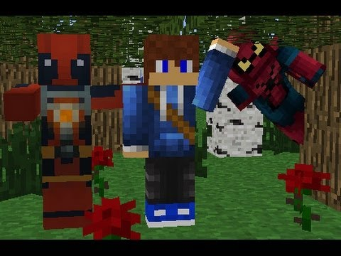 Minecraft superheros unlimited mod how to make spider-man and deadpool