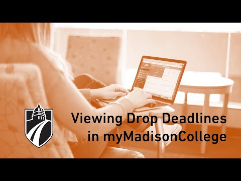 Viewing Drop Deadlines in myMadisonCollege