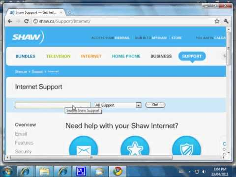 Configure windows live mail with a Shaw Email account