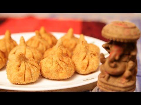 Fried Modak/तळलेले मोदक - Fried Plantain Modak by Archana - Ganesh Chaturti Special Fried Modak