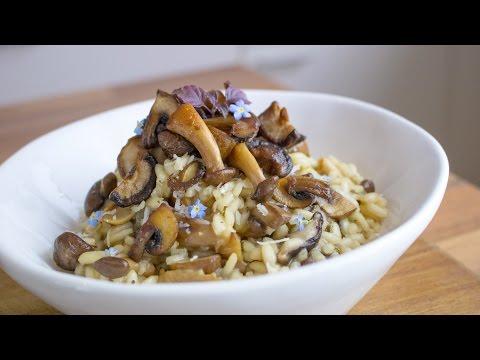 Mushroom Risotto   Vegan   GF  