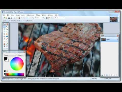 Cutting out images in Paint.NET II