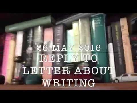 Reply To Letter About Writing