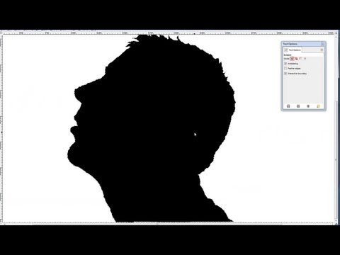 How to cut out someone in a picture or make a Silhouette with Gimp