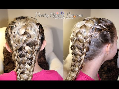 How To: Weaved Dutch Braid {Pancaked Braids} |Pretty Hair is Fun