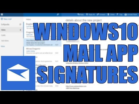 Windows10 Mail App Add A Signature Easy Tutorial 2017