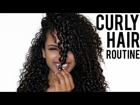 My Curly Hair Routine * Low Frizz*