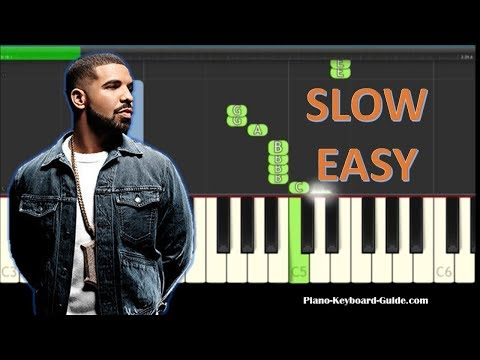 How to Play God's Plan by Drake - Slow Easy Piano Tutorial - Notes