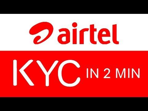 airtel KYC online in 2 minutes