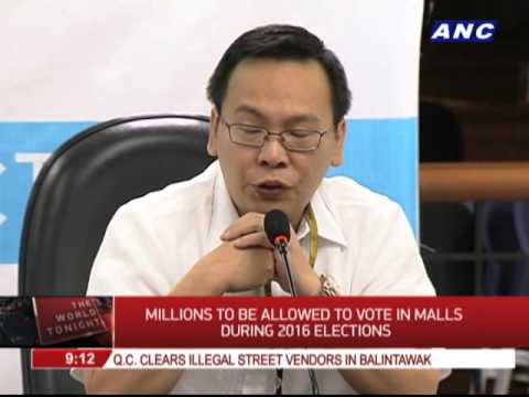 Millions to be allowed to vote in malls during 2016 elections