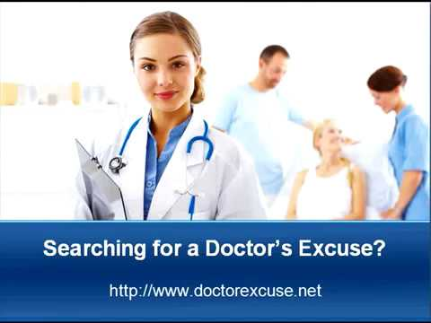 Need a Fake Doctor's Note for Work or School?