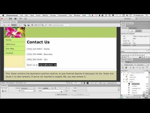 Dreamweaver CS6 Tutorial | Adding an Email Link | InfiniteSkills