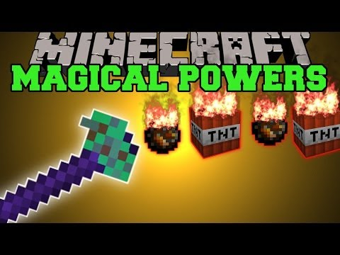 Minecraft: MAGICAL POWERS (TONS OF WANDS WITH SPECIAL POWERS!) Mod Showcase