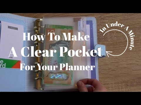 HOW TO MAKE A PLASTIC POCKET/CASH ENVELOPE FOR YOUR PLANNER IN UNDER A MINUTE