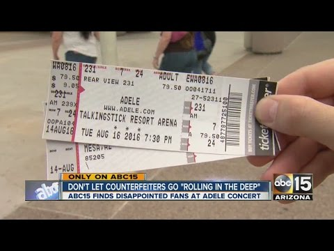 Unlucky fans get fake tickets to Adele concert in Phoenix