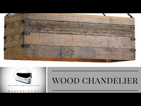 Make a Chandelier with reclaimed Wood ( Light Version )