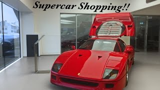 Supercar-Shopping with Swiss millionaires!!