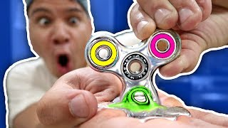 Download DIY GALLIUM FIDGET SPINNER MELTS IN HAND!!! Rare Liquid Mirror Fidget Spinner Toys & Tricks Video