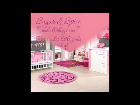 Cute Girl wall  decorations ideas