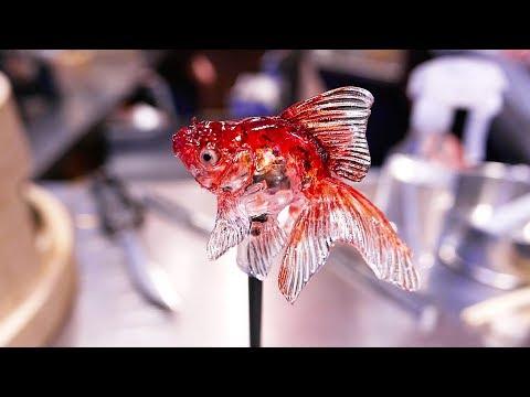 JAPANESE CANDY ART - Goldfish, Frog, Cat, Dog Amezaiku Tokyo Japan