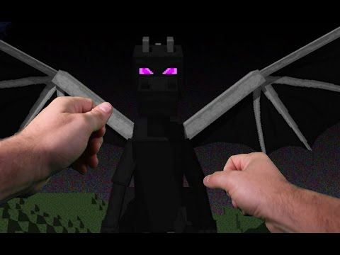 Realistic Minecraft - ATTACKED BY THE ENDER DRAGON IN REAL LIFE!