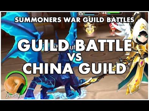 SUMMONERS WAR : Guild Battle VS China Guild