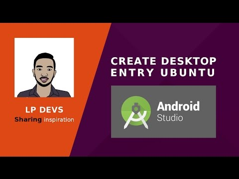 Create desktop entry for an application in ubuntu | Android studio 2.3
