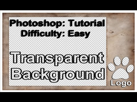 How To Create Transparent Background in Photoshop Tutorial