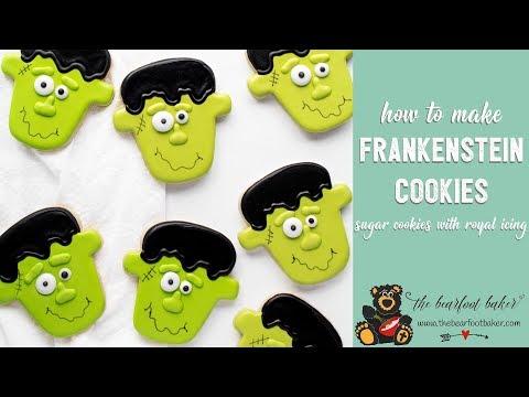 How to Make Cute Frankenstein Cookies | The Bearfoot Baker