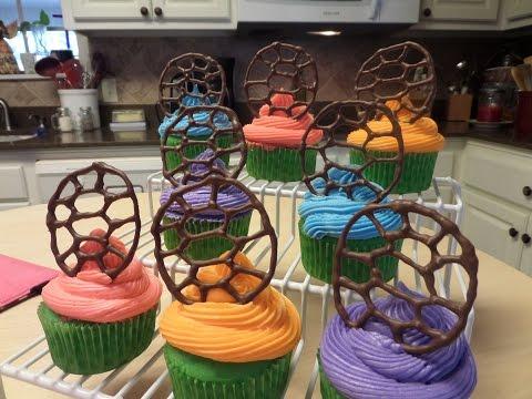 How to make Ninja Turtle-Turtle Shell Cupcakes Tutorial