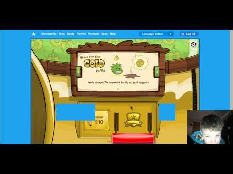 Club Penguin How To Get A Golden Puffle!!