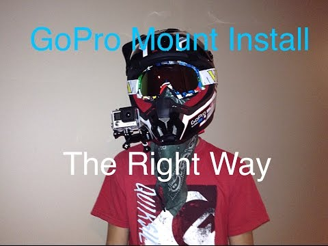 How to mount a GoPro on a dirt bike helmet