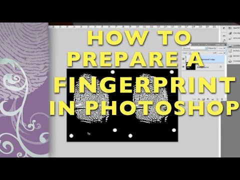 Prepare a Fingerprint in Photoshop for a Photopolymer Plate