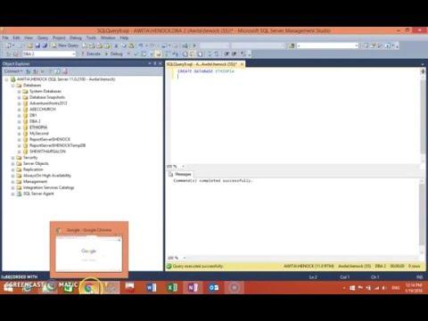 SQL server 2012 create database  To Ethiopian (Amharic) p 2