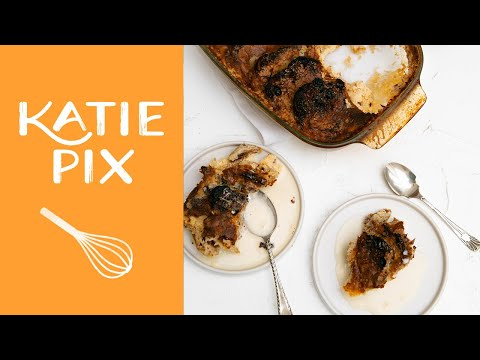 Easter Hot Cross Bun Bread & Butter Pudding Recipe | Katie Pix