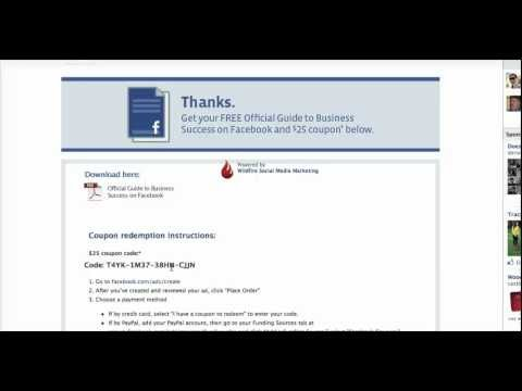 How to Get a Free $25 Facebook Advertising Coupon Code