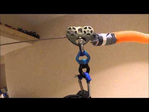 Basement ideas: DIY basement zip line hours of fun