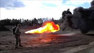 Download Original U.S. WWII M2-2 Flamethrower Dated 1945 IN ACTION Video