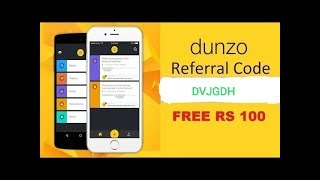 Dunzo referral code DVJGDH   Use code and earn 1000 dunzo cash link in description