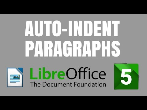 LibreOffice 5 Writer: How to auto-indent paragraphs