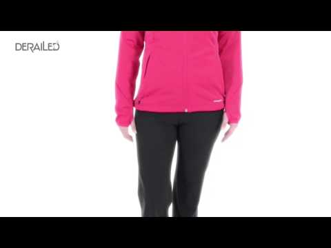 Adidas Hiking 1-Side Fleece Jacket - Attached Hood (For Women)