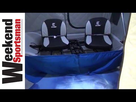 Yukon X Thermal Flip Over Ice Fishing Shelter | Weekend Sportsman | #ClamOutdoors