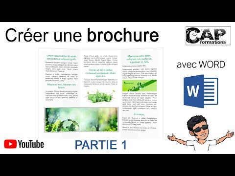 Comment réaliser une brochure 3 volets avec Word ? ( part 1)