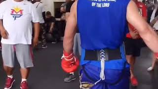Download Both mayweather and pacquiao Posted today of them working out Video